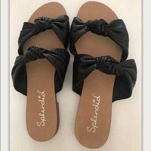 Splendid Women's Shoes Leather Slide Sandals 7.5
